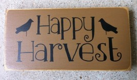 T1997HH - Happy Harvest Wood Block