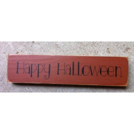T2097 - Happy Halloween Wood Block