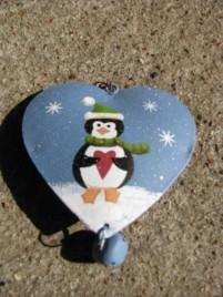 OR-510 Metal Penguin Ornament