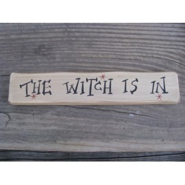M9030TWII-The Witch Is In wood block