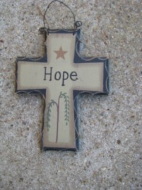 Primitive Mini Wood Cross WD802 - Hope Cross