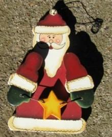 Wood Christmas Ornament 1000 - Santa
