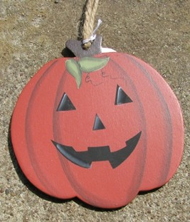 wd1137 Wood Halloween Pumpkin