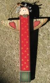 1169 - Wood Christmas Angel Ornament