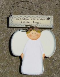 Wd1223A  Grandma and Grandpa's Little Angel wood
