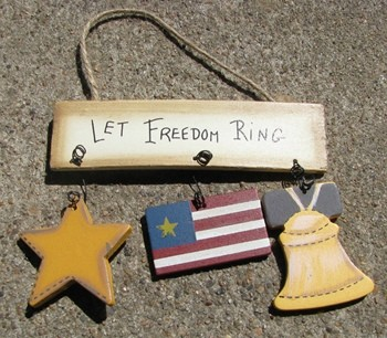 1243 - Let Freedom Ring Wood Sign