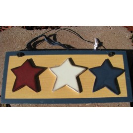1286 - Red White Blue Stars wood sign