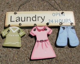 Wood Primitive Sign 1326-Laundry Open 24 Hours