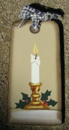 1467 - Candle Wood Tag