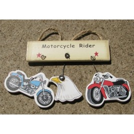 1500X - Motorcycle Rider wood sign