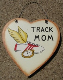 WD1900F - Track Mom wood heart