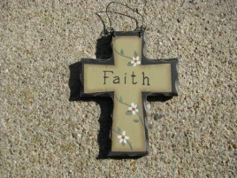 Primitive Wood Mini Cross WD803 - Faith