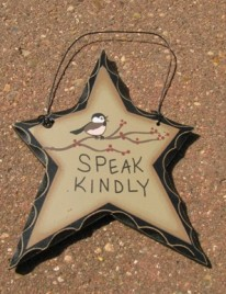 WD809 - Speak Kindly wood star
