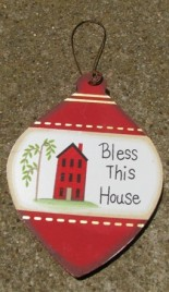 Wood Christmas Ornament wd857 - Bless This House