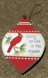 Wood Christmas Ornament wd855 - Glory to God in the Highest