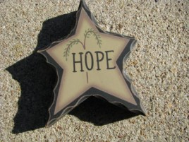 Primitive Wood WD903 - Hope Standing Star
