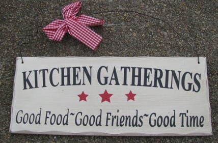 wd306 Kitchen Gatherings Wood Sign