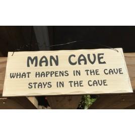 WP346 - Man Cave Wood Sign