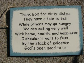 WS58 - Thank God for Dirty Dishes wood sign