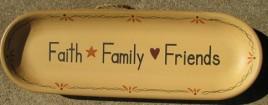 XP-2E - Faith Family Friends wood oval plate